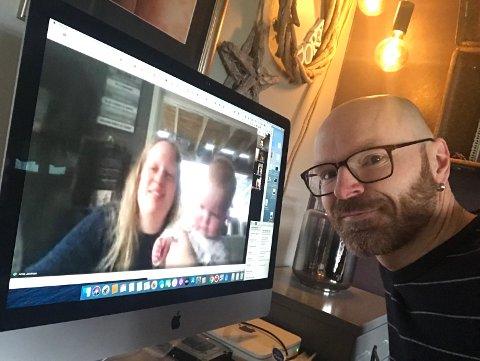 Undertegnede har videokontakt med nyhetsleder Anita Lien Jacobsen og resten av redaksjonen i Indre Akershus Blad.