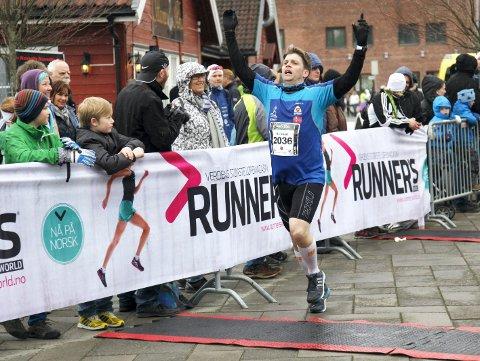 Fra Maraton: Kristian Jahre fra et tidligere løp i Holmestrand Maraton.