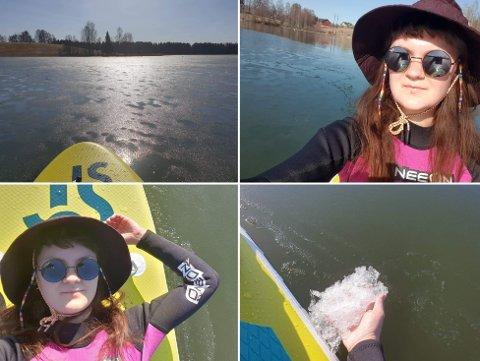 BRØT LOVEN: Åsa Jarmann (28) hadde ingen anelse om at hun gjorde noe ulovlig da hun padlet rundt i tjernet forrige helg.