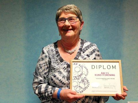 Marit Aabel Kulseng tok imot prisen i Haugesund lørdag, på vegne av Kongsberg Kunstforening.
