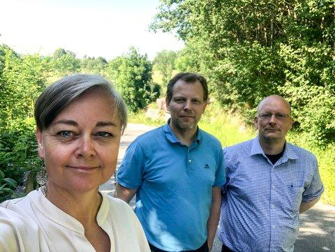 Tove Hofstad (V), Frode Sundseth (H) og Lars Haugen (Frp)