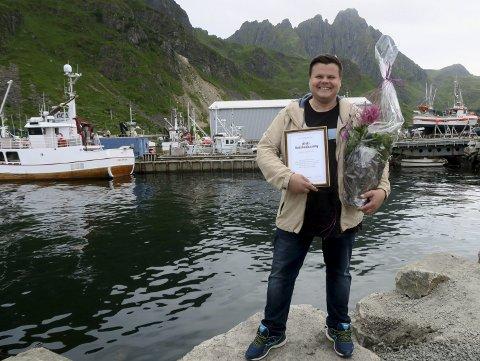 Prisvinner: Børje Sørensen ble under avslutningen av Ballstaddagan utnevnt til årets «Ballstadværing» for sitt engasjement innen fotball. Alle foto: Ballstaddagan