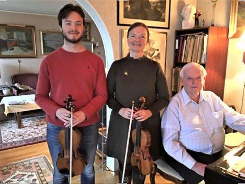 KONSERT: På lørdag holder tre generasjoner, med Sigurd Jørgensen Eide, Åsta Jørgensen og Leif Bendix Jørgensen, familiekonsert i Borge kirke.