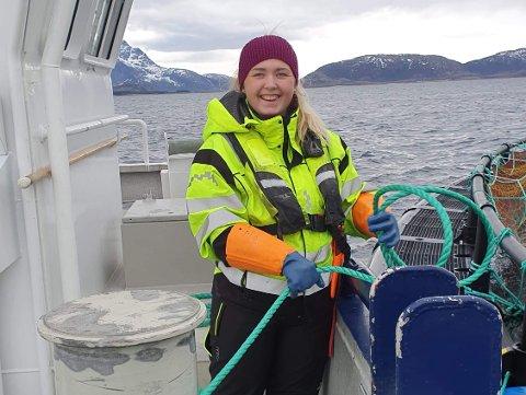 Fagarbeider: Silje Kofstad (20) er ferdig ut dannet fagarbeider, og har fast jobb hos Ellingsen Seafood.