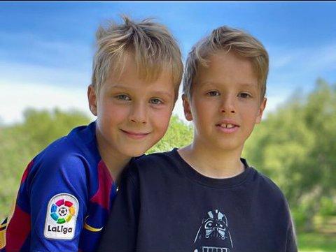 INGEN BARNEBURSDAG: Koronarestriksjonene sørget for at det ikke ble noen barnebursdag for Bendik og Isak Mørch Kjempenes, som fylte ti år onsdag.