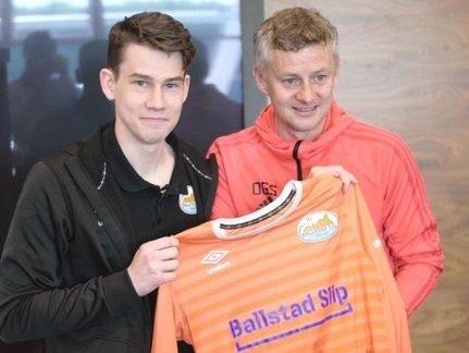 Steinar Green Hansen fra Ballstad møtte Manchester United-manager Ole Gunnar Solskjær tidligere i år.