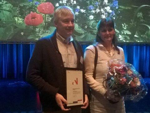 Tone Andersen og Jens Carlsen, tidligere vinnere av bedriftsutviklingsprisen i Nordland