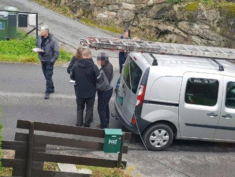 SIKKERT VÅRTEGN: Denne håndverkeren ble stanset av politi og skattemyndigheter etter å ha lurt en boligeier på Romerike i 2019. Nå advares det igjen mot useriøse aktører som opererer på Romerike. (Atkivfoto: Privat)