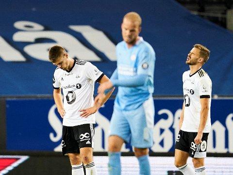 Sammen med Markus Henriksen måtte Holmar Eyjolfsson og RBK deppe i stedet for å juble da det gjaldt som mest. Foto: Ole Martin Wold / NTB