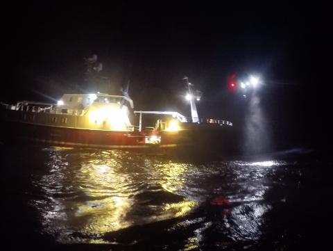 KV Sortland hentet skadet fisker.