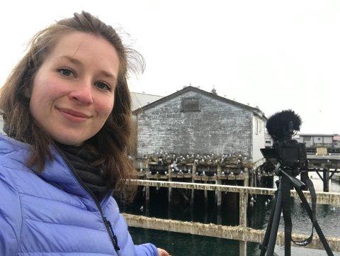 ELSKER MÅSENE: Irene Kaltenborn synes måsene er vakre skapninger