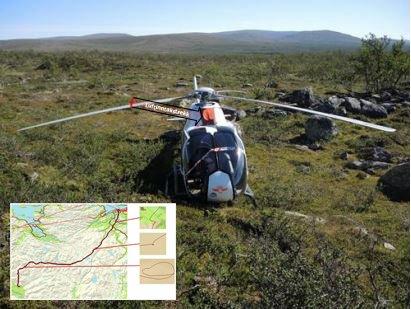 Her endte ferden, i Reisadalen i Nord-Troms.