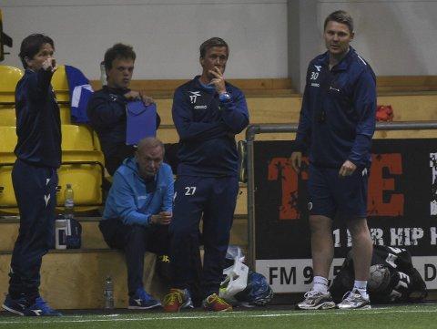 VERDIG AVSKJED: Jonas Hoem (t.h) avsluttet jobben i Raufoss, før han nå reiser til Molde, med seier i LSK-hallen.