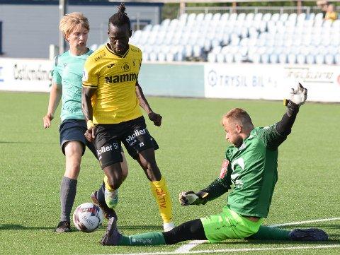 TOPPSCORER: Mame Mor Ndiaye ble matchvinner i cupkampen mo Nybergsund, og navnet hans skal være diskutert på Brann Stadion de siste dagene.