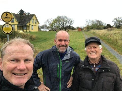 HISTORIE: Erlend Larsen og Jan Helge Kaiser besøkte Halvard Oddane i Nevlunghavn for noen uker siden, og har laget en videofilm.