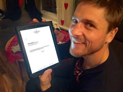 GRATULASJON: VM-mester Robert Paulsbyen fikk gratulasjon fra kong Harald. (Foto: Rune Hagen)