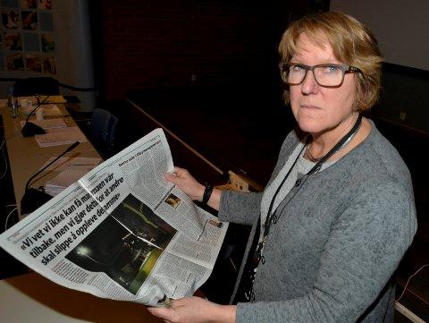 PREGET SYKEHUSDIREKTØR: Administrerende direktør Alice Beathe Andersgaard lover å innfri de pårørendes ønske om at Sykehuset Innlandet skal gjennomgå rutinene sine, og hun levner ingen tvil om at sykehusledelsen tar hendelsen på sykehsuet i Elverum svært alvorlig.  (Foto: Bjørn-Frode Løvlund)
