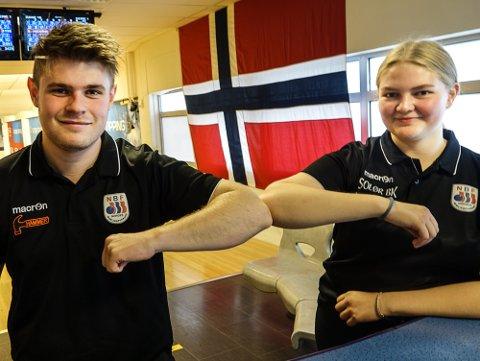 GULL : Jenny Mathiesen og Jonas Dammen tok singelgull i U-NM.