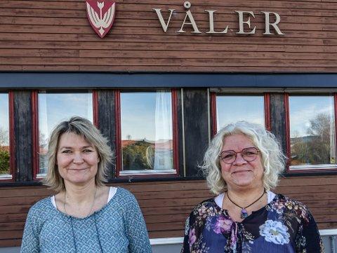 FAVORITTER: May-Liss Sæterdalen, til høyre, er favoritt til å fortsette som Våler-ordfører ut perioden, og Elin Østeberg som varaordfører.