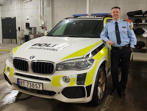 I STARTGROPA: Distriktsleder Øystein Krogstad i UP sender mannskapene sine ut på jakt etter trafikksyndere i påsken.
