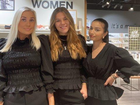 FRA BUTIKKÅPNINGEN: F.v. Butikksjef Julie Andersen sammen med medarbeidre Helene Jøssund og Amina Abu Saleh.
