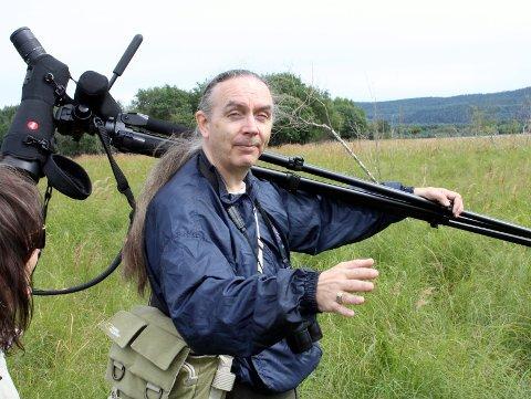 BEKYMRET: Leder Håkan Billing i Norsk Ornitologisk Forening avdeling Oslo og Akershus er svært bekymret for alle bruddene på ferdselsreglene i Nordre Øyeren naturreservat.