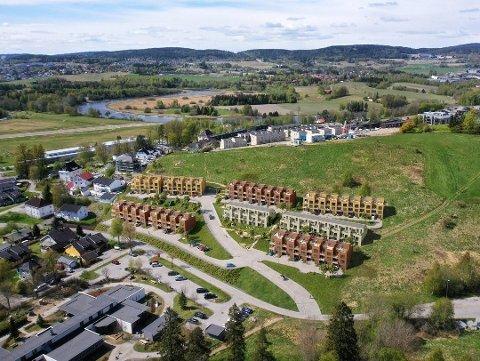 Byggeplaner: Her er en oversikt over utbyggingsområdet på Kjeller. ILLUSTRASJON: Bakke AS/ Meinich arkitekter Foto: Romerikes Blad