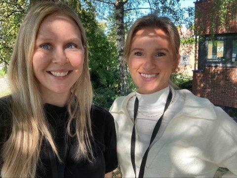 PSYKOLOGER: Anne Svendsen og Tea Høyheim i Rask Psykisk helsehjelp ønsker å hjelpe innbyggere som har hatt det ekstra tøt under pandemien.