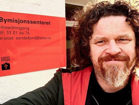 BYMISJONSSENTERET: Thor Olav Moen er arbeidsveileder ved Bymisjonssenteret i Sandefjord.