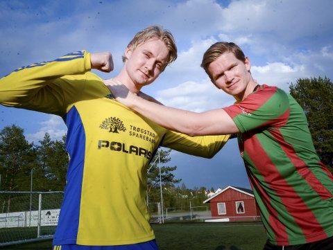 SENTRALE BRIKKER: Kristian Nordli (t.v.), Trø/Bå og Christopher «Cressi» Roaldsøy, Ørje er begge potensielle matchvinnere når lagene møtes til lokaloppgjør i Ørje mandag. Begge lag tror det blir jevnt og begge håper på seier. ARKIVFOTO