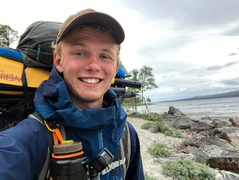 Mats Nygård (19) fra Mysen er tilbake fra en 26-dagers tur på 77 mil.