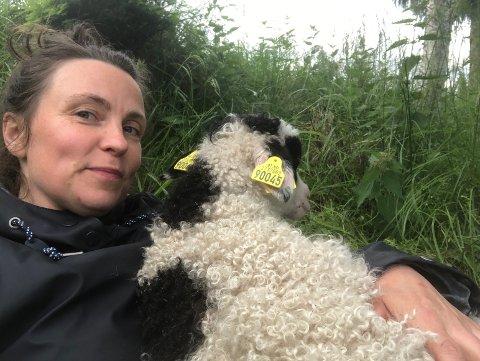 SOLGT: Gudrun Austli har de siste årene kjent på at inntektene som bonde ikke står til arbeidsmengden. Nå har hun solgt gården, og drar snart sørover til ny jobb.