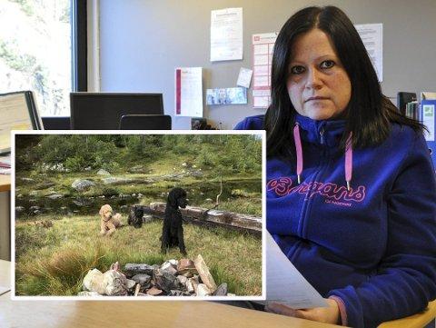 KOM TIRSDAG: Anne Elisabeth Slemmeli mistet to av sine tre hunder i løpet av fire dager, og er rørt over all støtten og omtanken hun har fått. Tirsdag kom obduksjonsrapporten fra Veterinærinstituttet som viser at hundene har fått i seg frostvæske.