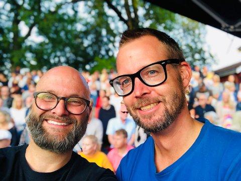 FØRNØYDE: André Kassen og Sondre Stordalen kan si seg godt fornøyde med årets Parkjazz.
