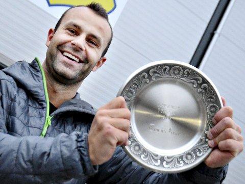 Toppscorer: Jan Roger Angvik scoret 33 mål da Dahle vant 5. divisjon i år. Den målfarlige spissen får heder og ære fra Tidens Krav for fjerde gang som toppscorer.