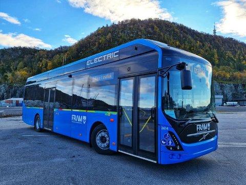 ELBUSS: Slike busser kan trafikkere flere ruter i Kristiansund, Averøy, Aure og Smøla fra 2024.