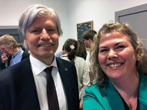 Klima- og energiminister Ola Elvestuen og ordførerkanditat