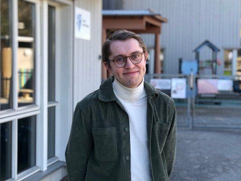 FRIHET: For høyrepolitiker Mathias Willassen Hanssen representerer regnbueflagget aksept og mangfold, og friheten til at folk får være den de er.