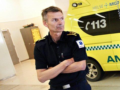 NOE DE FRYKTET: At smitten også skulle nå inn hos ambulansepersonell var noe avdelingsleder Sturla Hammer fryktet, selv om de så langt i pandemien har sluppet unna.