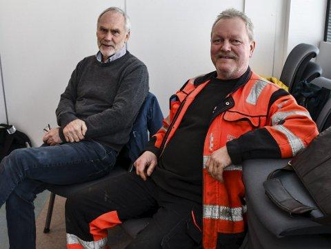 Utbyggerne Asbjørn Aanonsen og Vidar Knutsen var til stede da lokalpolitikerne i mars sa ja til at de kan begynne å bygge veier inn til planlagt hyttefelt på Åstø i Dypvåg. Nå har to naboer klaget.