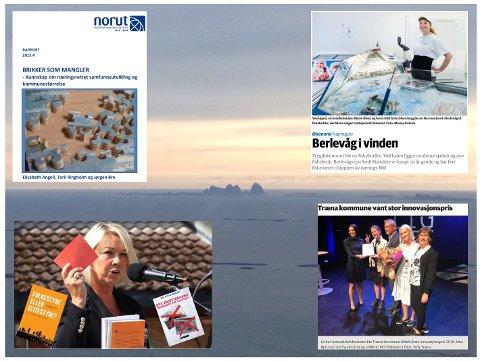 Kommunalminister Mæland fikk under et besøk i Tysfjord 1. juni utdelt et par bøker. De har hun neppe lest, ei heller rapporten utarbeidet for hennes eget departement. Kanskje burde hun også besøke Berlevåg og prisvinner Træna?