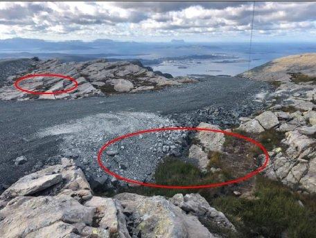 UTSIKT: På sørvestsida av Slettevarden er det lite å seie på utsikta.