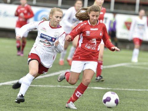 Ingeborg Soleng sørget for Mjølners andre mål i kampen som rødtrøyene vant 4-2 mot Sortland.
