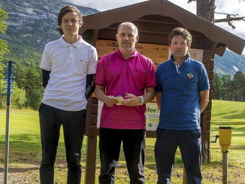 TOPPENE: Aksel Sandvoll, Finn W Olsen og Frank Aanes Andersen.