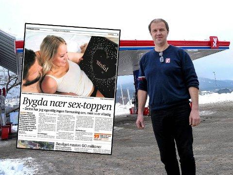 SNAKKIS: Rolf Øverbø på bensinstasjonen YX Siljan skjønner nå hvorfor han selger så mange AA-batterier på høsten. Foto: Dan Hagen