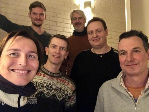 Nytt felles styre i Jevnaker og Lunner: Karina Ødegård, Bjørn Thomas H. Bergheim, Lennert Hug, Halvard Klevmark, Kent Giskeødegård og Arvid Udo de Haes.