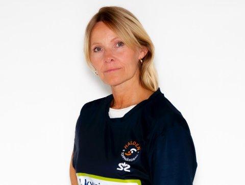 DAGLIG LEDER: Marita Rognøy forteller at Halden Topphåndball har fått inn 34 søknader til stillingen som administrasjon- og markedsansatt i eliteklubben.