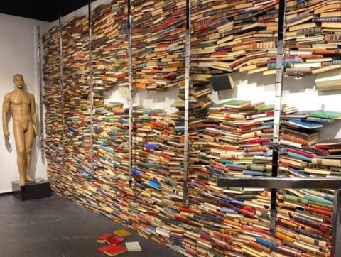 GIS VEKK: Flere tusen bøker venter på nye eiere.