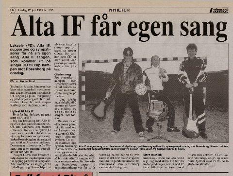1995: Jostein laget Alta IFs supporterlåt.