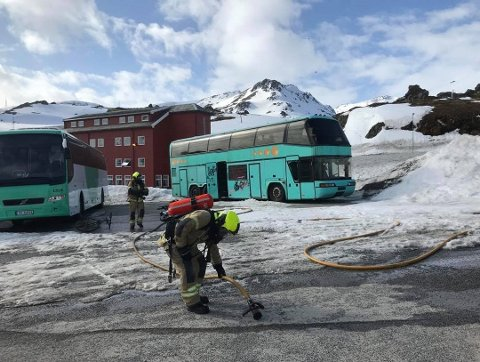 Nødetatene rykket ut til brann i en buss onsdag ettermiddag.